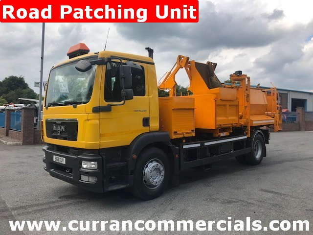 2011 man tgm18.140 18 ton hot box road patcher for sale